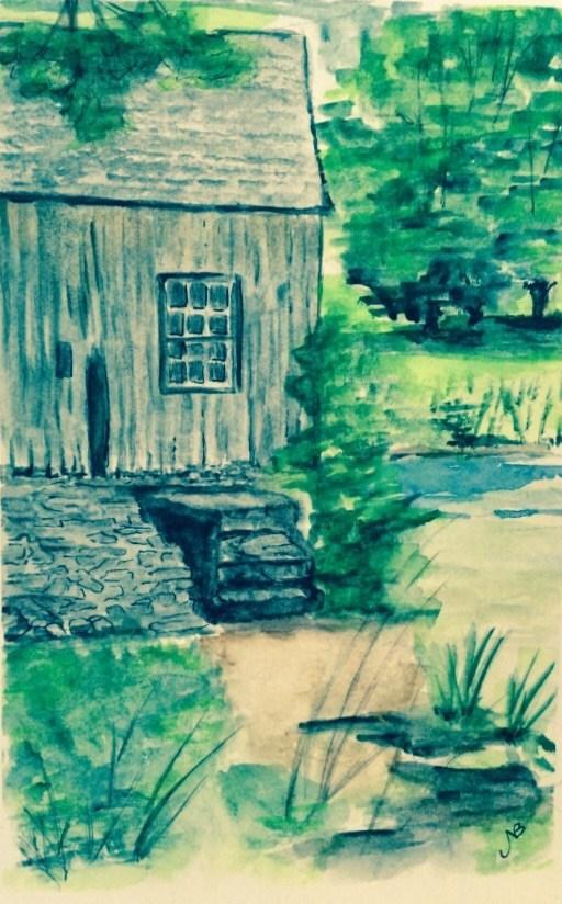 """Moore State Park 9 x 6 watercolor"" original fine art by Nancy Beard"
