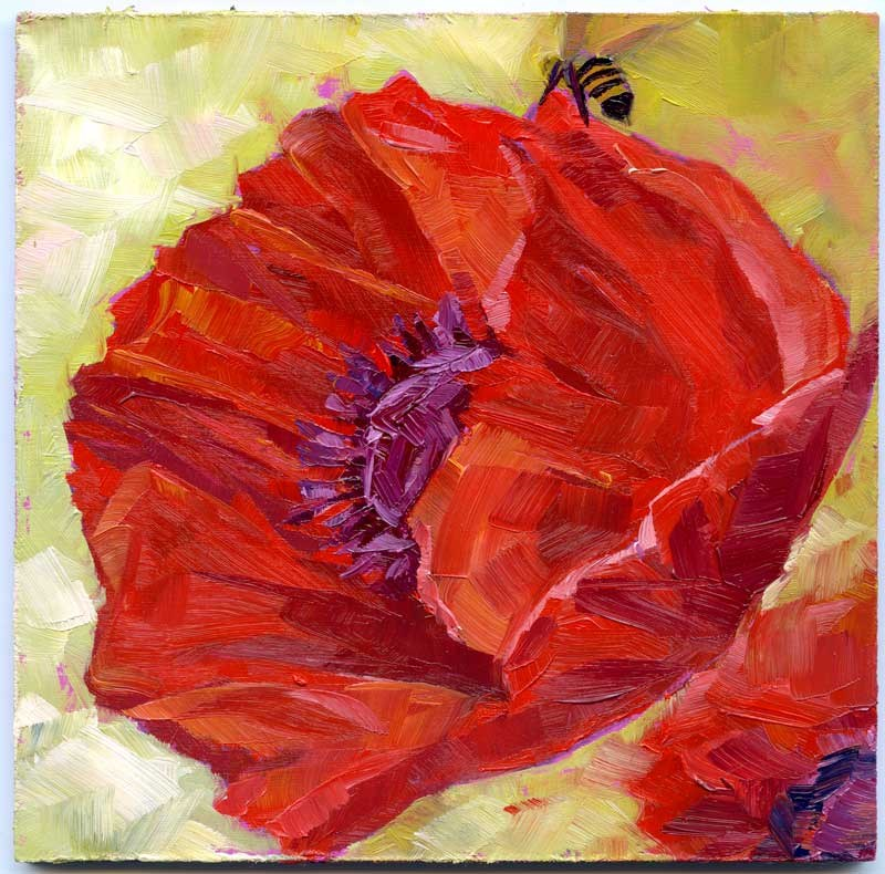 """Poppy & Bee"" original fine art by Eileen Hennemann"