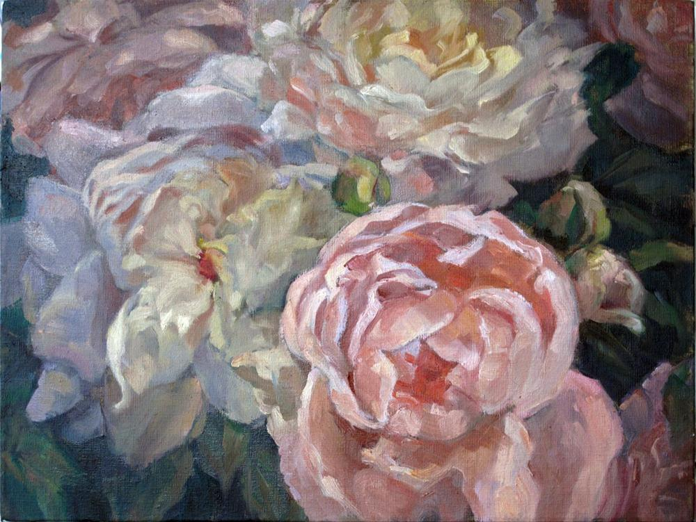 """Peonies - Ladies in waiting"" original fine art by Myriam Kin-Yee"