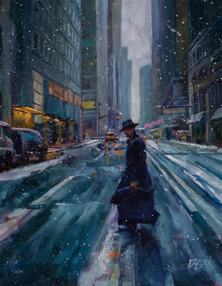 """Into the Cold No. 7"" original fine art by Dimitriy Gritsenko"