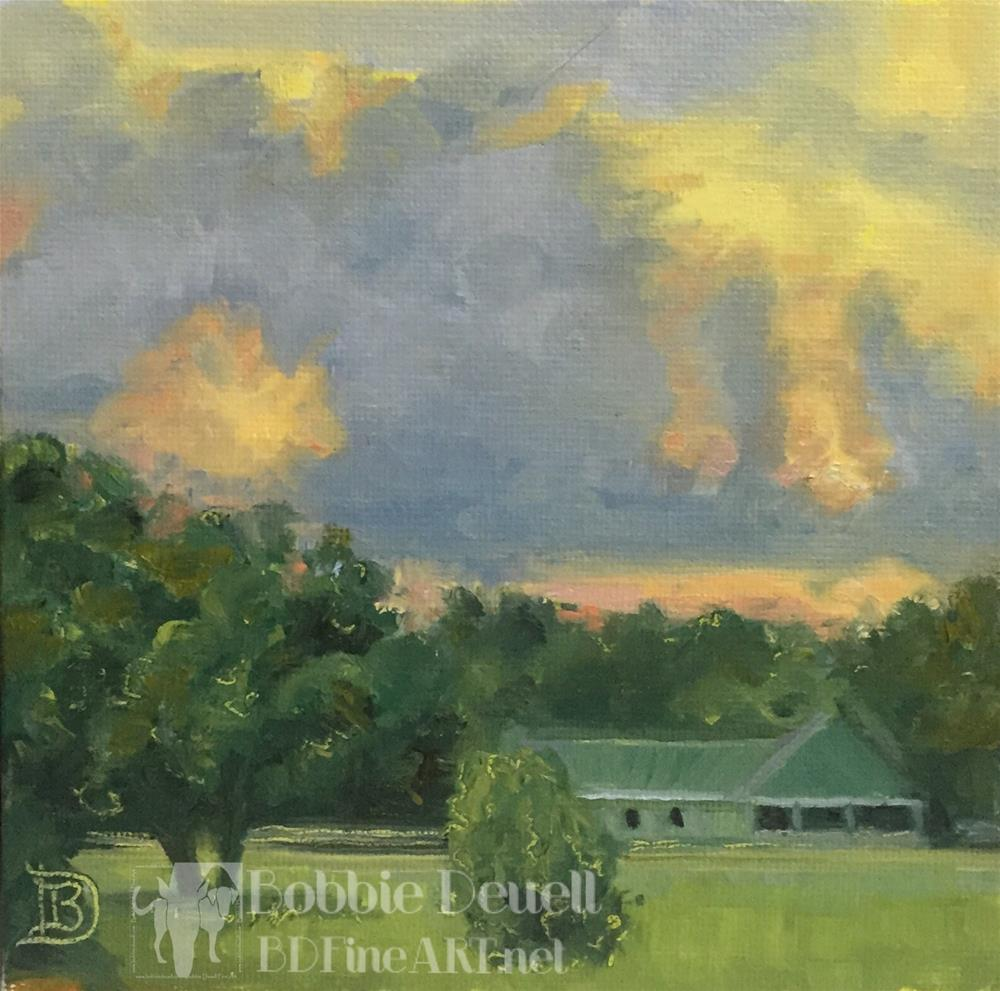 """#7 Sunset"" original fine art by Bobbie Deuell"