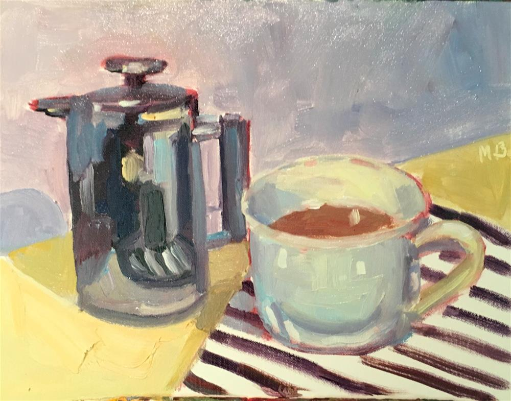 """Coffee Press"" original fine art by Marcia Bergtholdt"