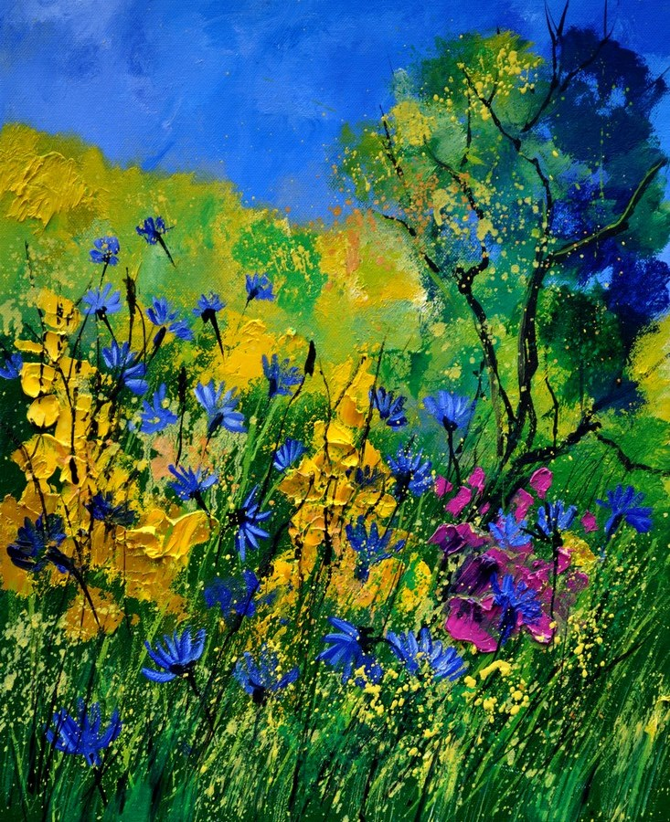 """wild flowers"" original fine art by Pol Ledent"