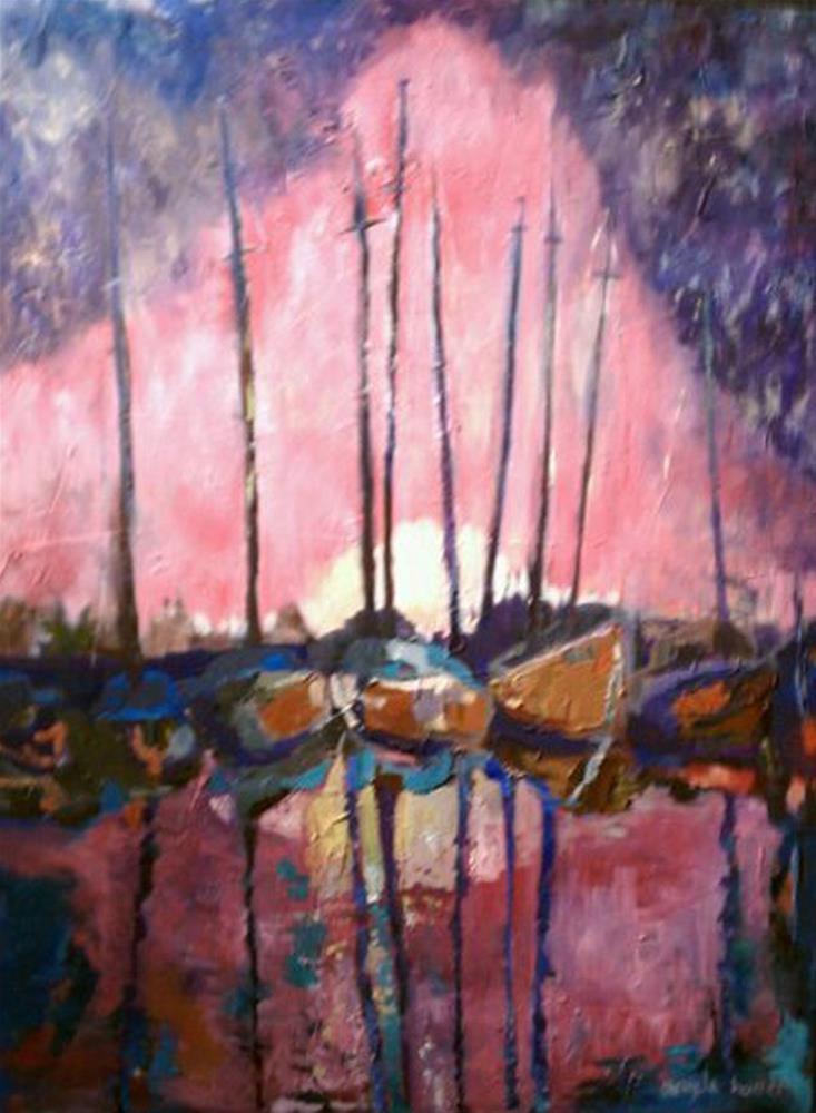 """""""Pierside Sun"""" original fine art by Angela Hansen"""