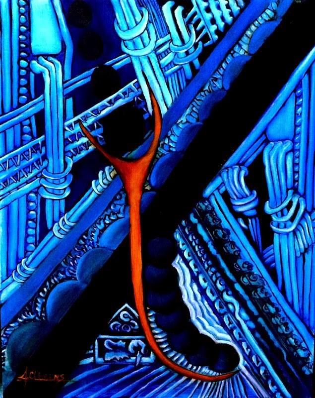 """Circuit"" original fine art by Jolynn Clemens"