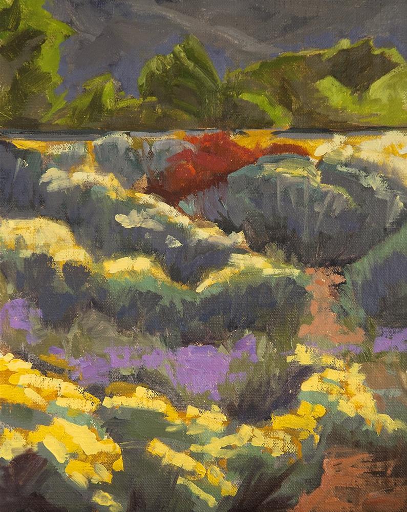 """Yellow, Violet, Red"" original fine art by Miriam Hill"