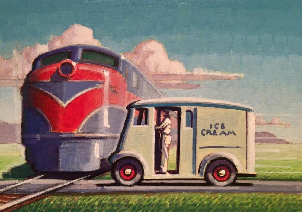 """""""Milk Shake"""" original fine art by Robert LaDuke"""