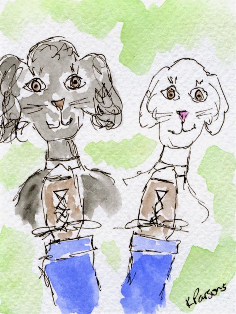 """""""Double the Love"""" original fine art by Kali Parsons"""
