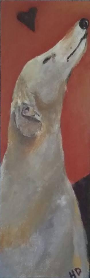 """""""Sniff!"""" original fine art by Hallie Dozier"""