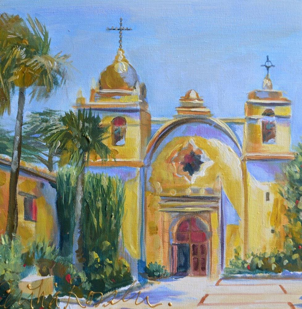 """CARMEL MISSION"" original fine art by Cecilia Rosslee"