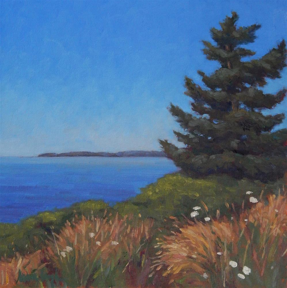 """""""Blue Skies"""" original fine art by Lisa Kyle"""