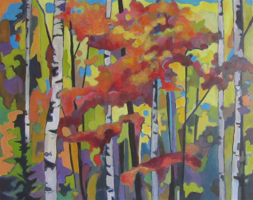 """Autumn Woodland"" original fine art by Patricia MacDonald"