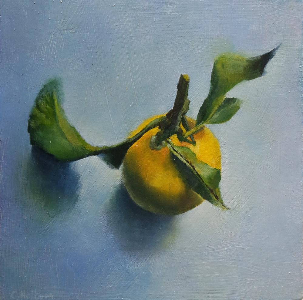 """Single lemon"" original fine art by Cathy Holtom"