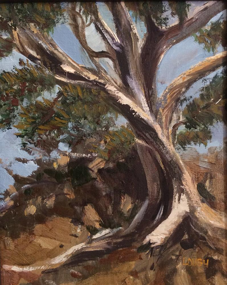 """Gnarly Tree"" original fine art by Charlotte Lough"