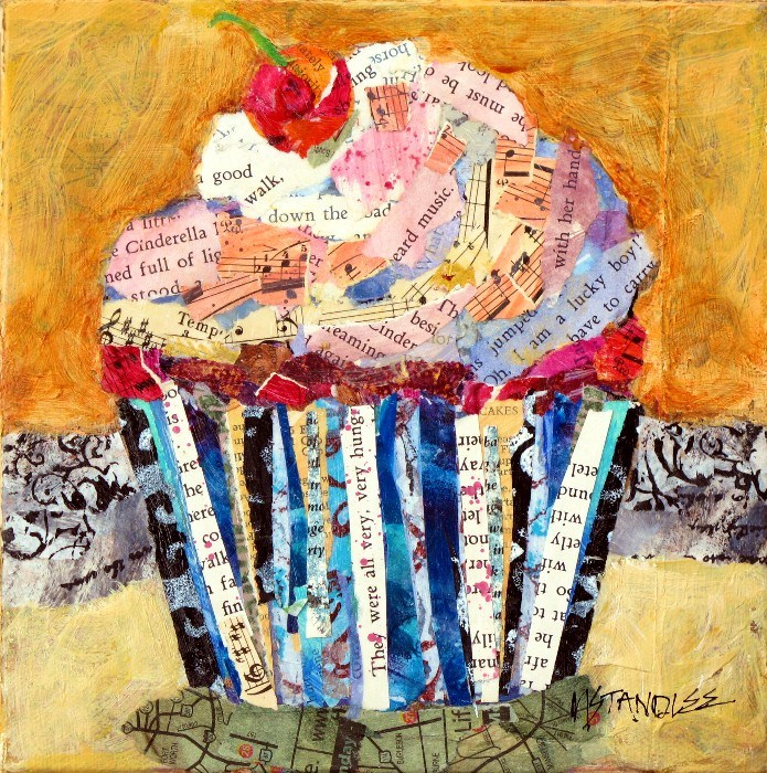 Cupcake Collage, 12082 Oh, I am a lucky boy! SOLD original fine art by Nancy Standlee