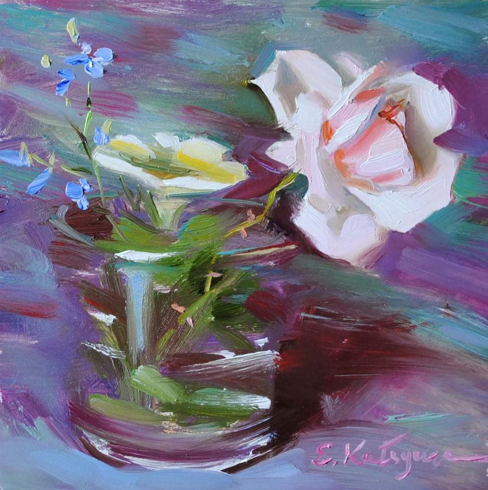 """Wild Rose"" original fine art by Elena Katsyura"