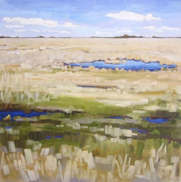 """Ultramarine On The Field"" original fine art by Nicki Ault"