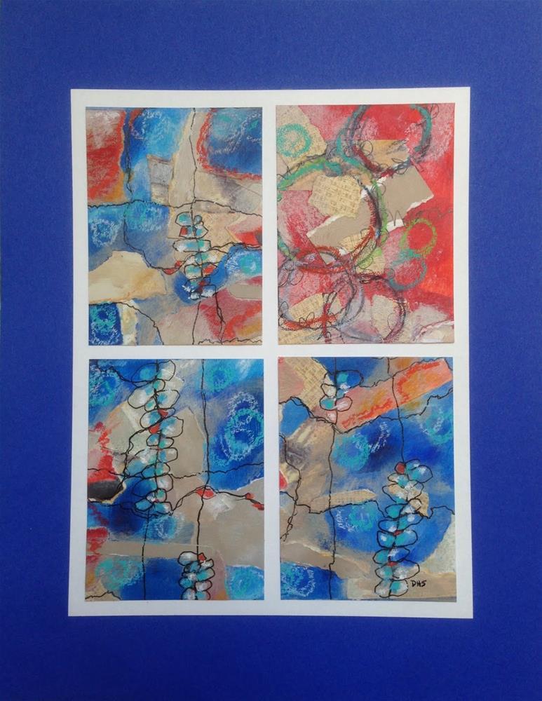 """""""Ninety-Blue"""" original fine art by Dotty  Seiter"""