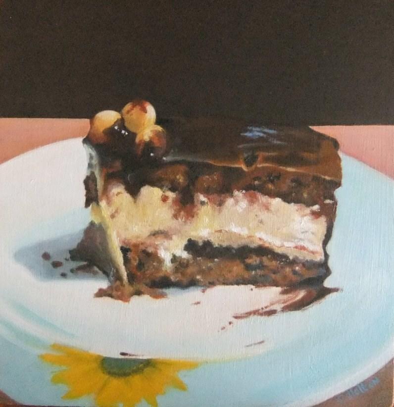 """Chocolate cake"" original fine art by Cathy Holtom"