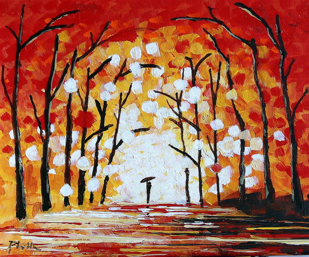 """WALK TO THE LIGHT"" original fine art by Bob Phillips"