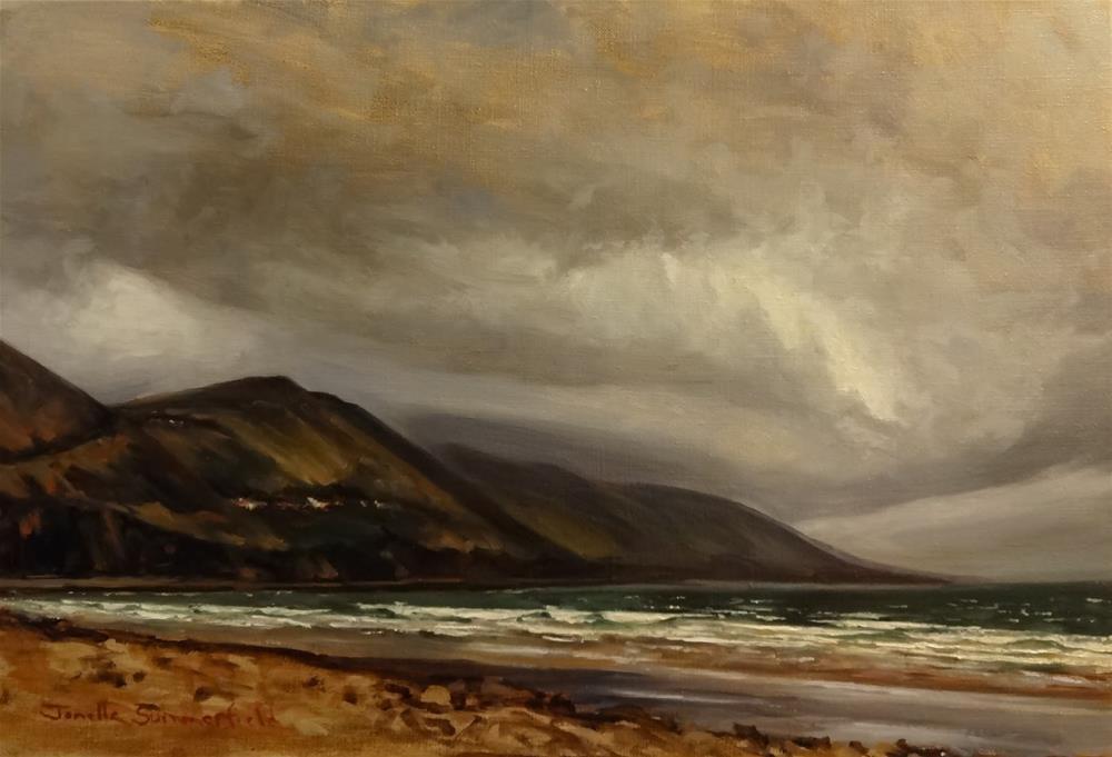 """Rossbeign Beach II"" original fine art by Jonelle Summerfield"