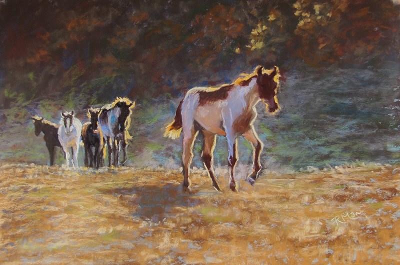 """Free to Roam"" original fine art by Ruth Mann"