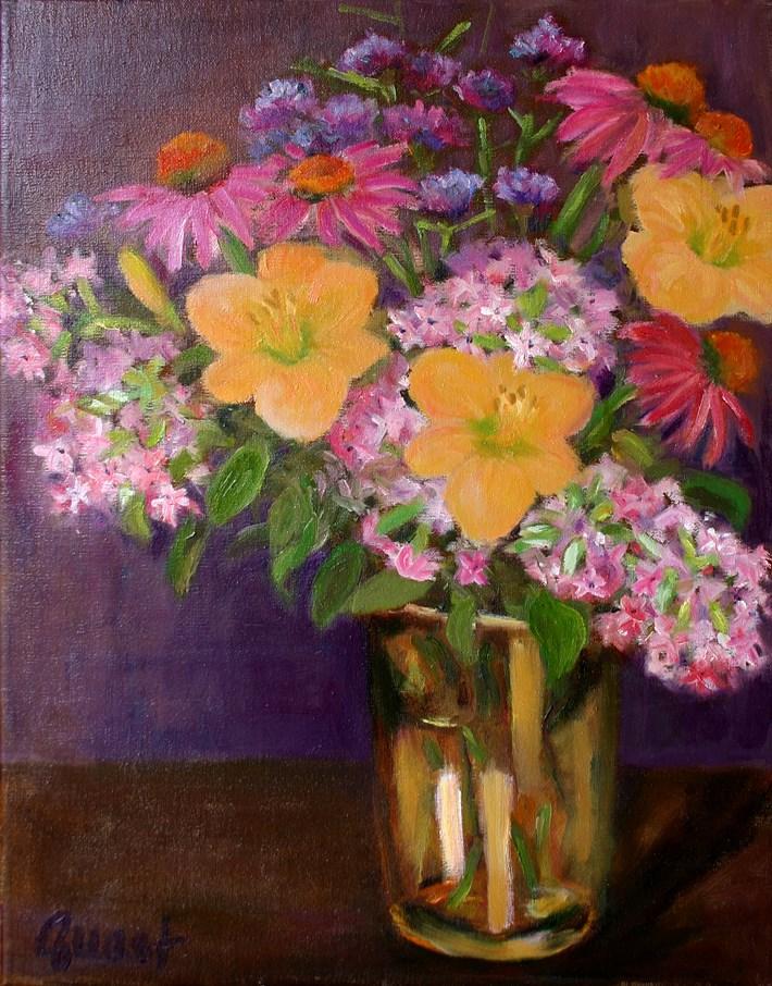 """""""Dayliles and Phlox"""" original fine art by barbara quast"""
