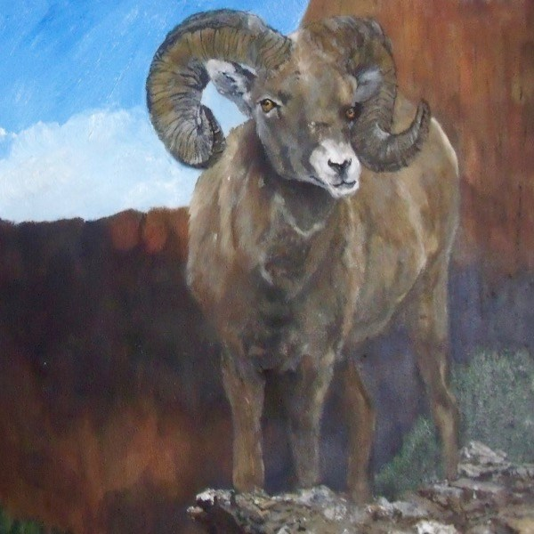 """King of the Mountain"" original fine art by Nelvia  McGrath"