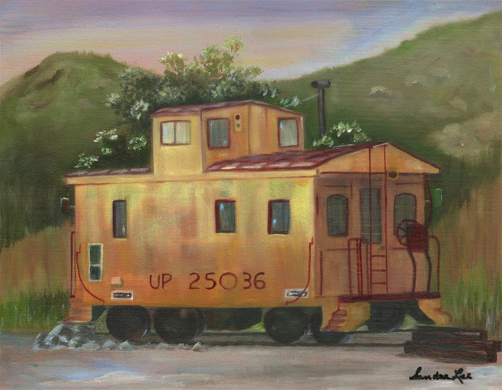 """Tintic Junction Caboose"" original fine art by Sandra Fullerton"