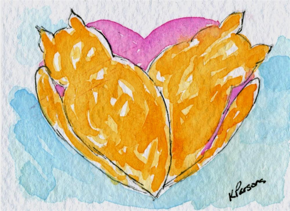 """Cat Nap Love"" original fine art by Kali Parsons"