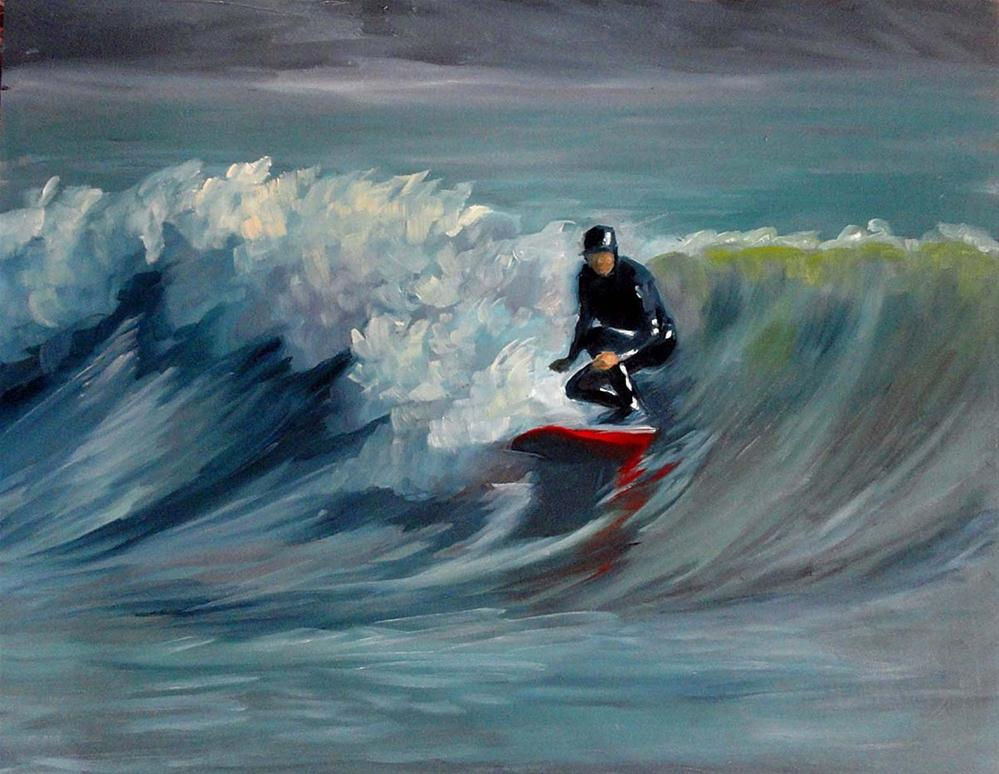 """Catching The Curl"" original fine art by Cietha Wilson"
