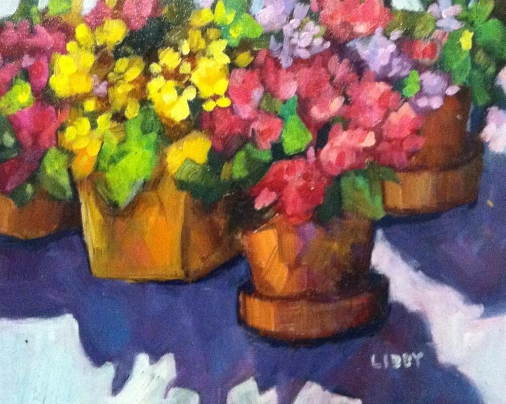 """Flower  Row"" original fine art by Libby Anderson"