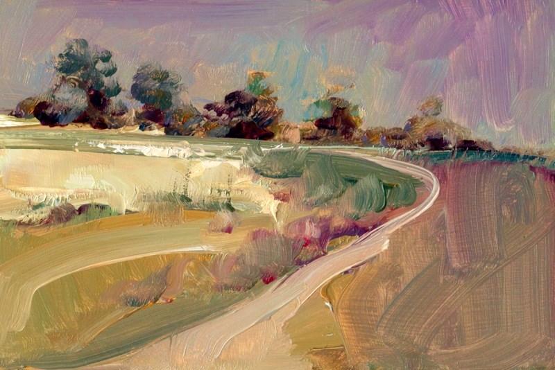 """Heather and Heath"" original fine art by Anne Wood"