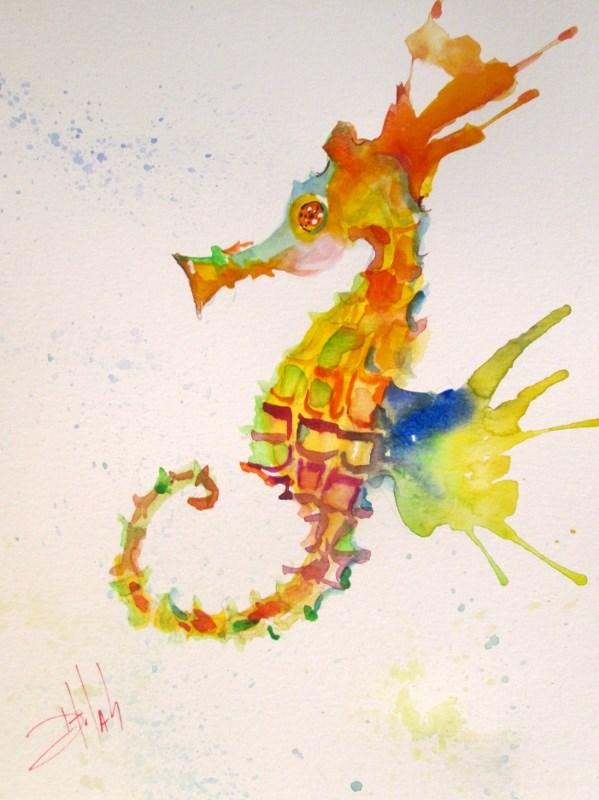 """Wild Seahorse"" original fine art by Delilah Smith"