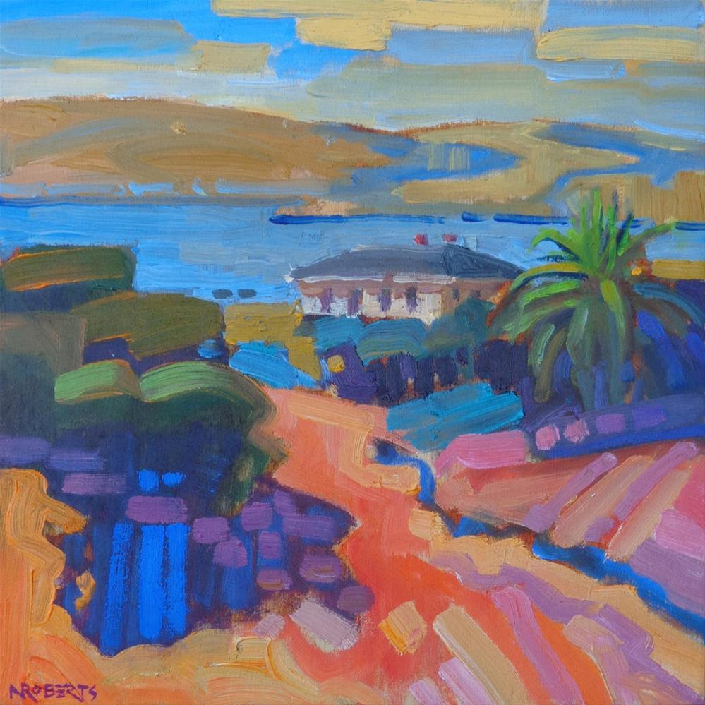 """Commandant's View, Benicia"" original fine art by Nancy Roberts"