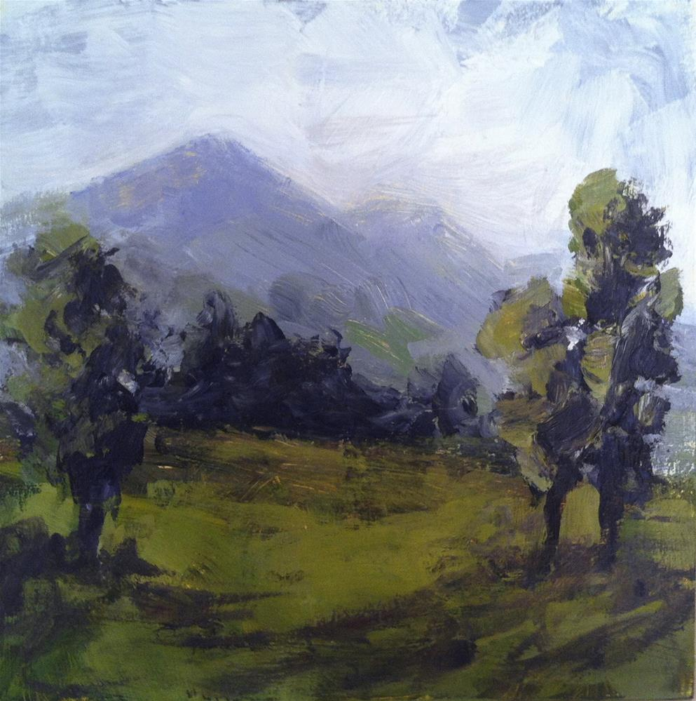 """Windswept Alps"" original fine art by Shannon Bauer"