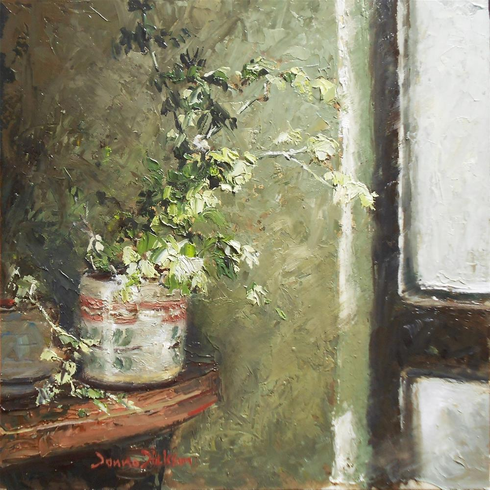 """Light from the Window"" original fine art by Donna Dickson"