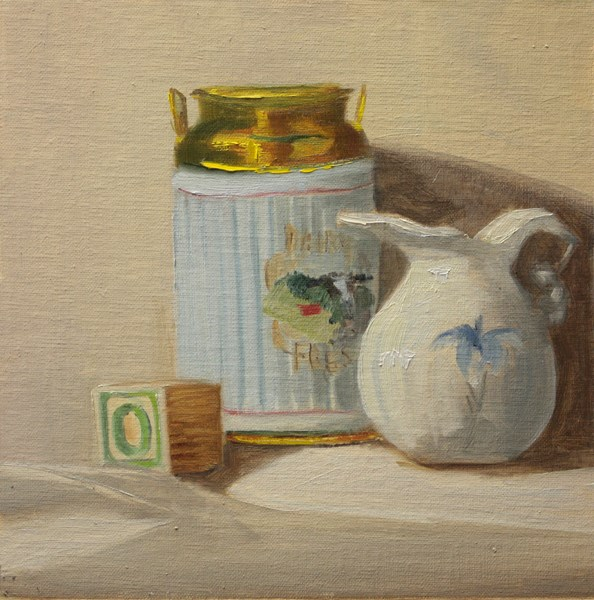 """Block Can and Jug"" original fine art by Jane Frederick"