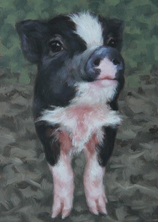 """""""Winston"""" original fine art by Sarah Becktel"""