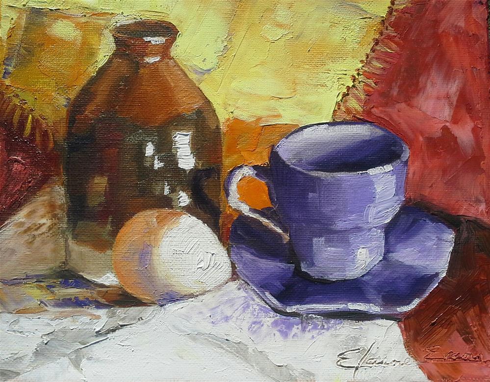 """Milk n Eggs"" original fine art by Elaine Evans"