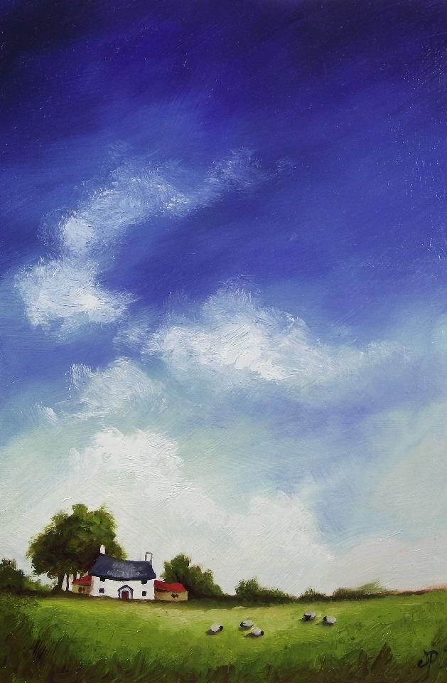 """Bigger Sky, little Sheep"" original fine art by Jane Palmer"