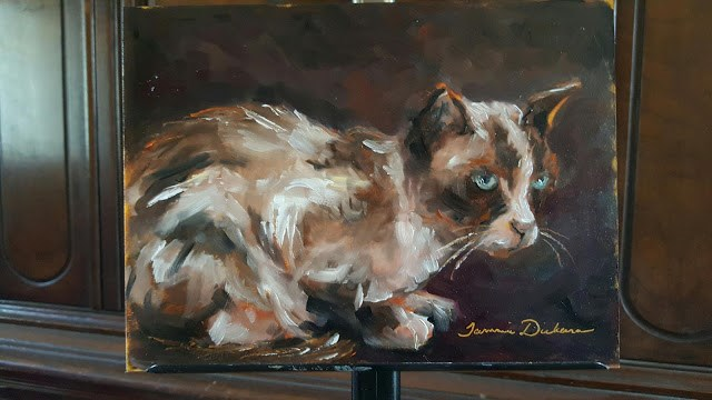 """""""Waiting for Dinner"""" original fine art by Tammie Dickerson"""