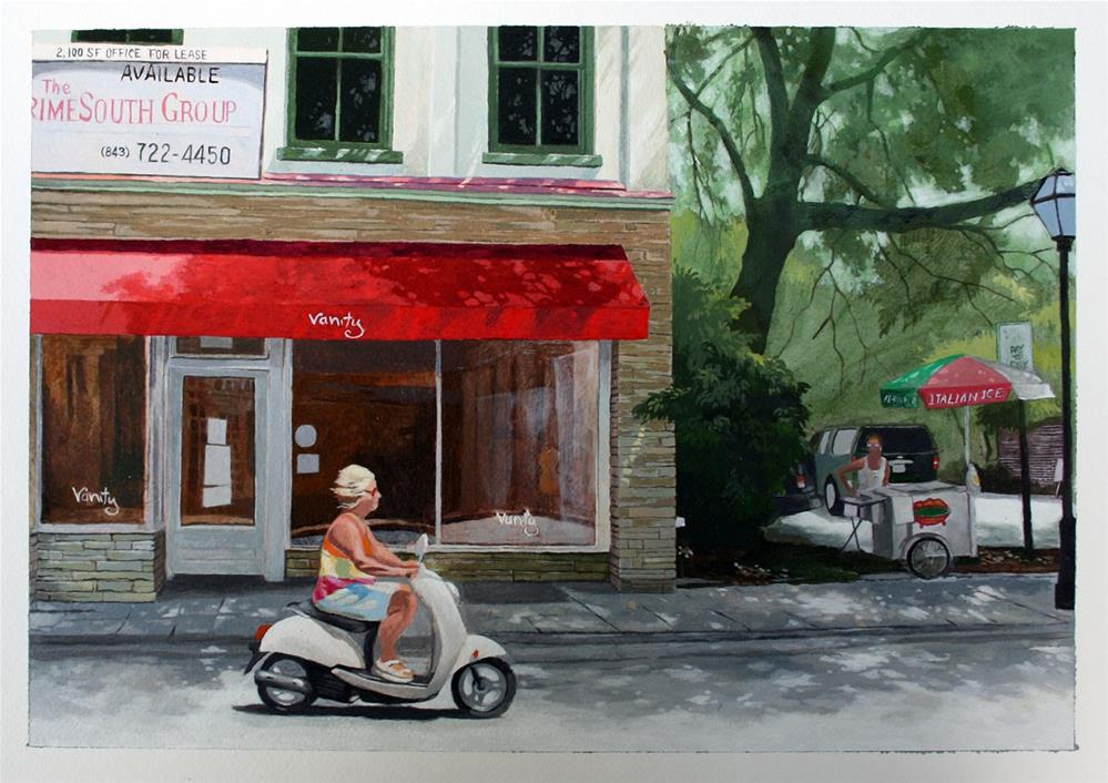 """King Street"" original fine art by Setsuko Lawson"