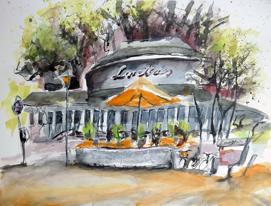 """1374 Loretta's"" original fine art by Dietmar Stiller"