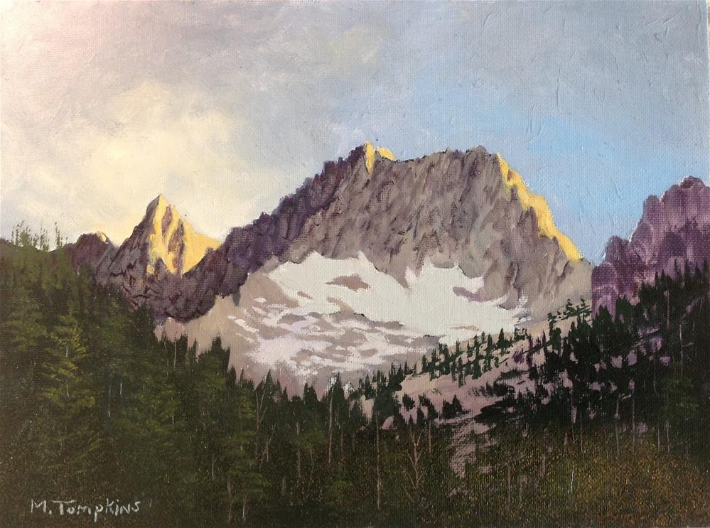 """Mountain Glow"" original fine art by Mark Tompkins"