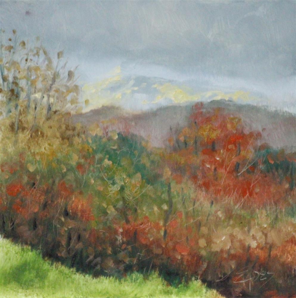 """Low Clouds"" original fine art by Linda Eades Blackburn"