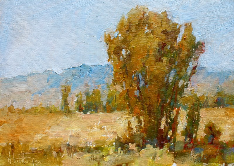"""Owens Valley Cottonwood I"" original fine art by Melanie Thompson"