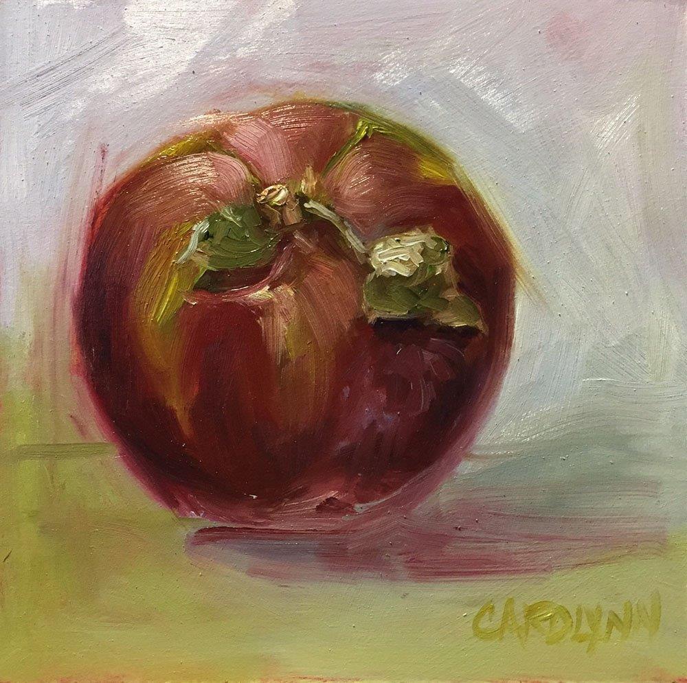 """""""Mac Apple"""" original fine art by Carolynn Doan"""