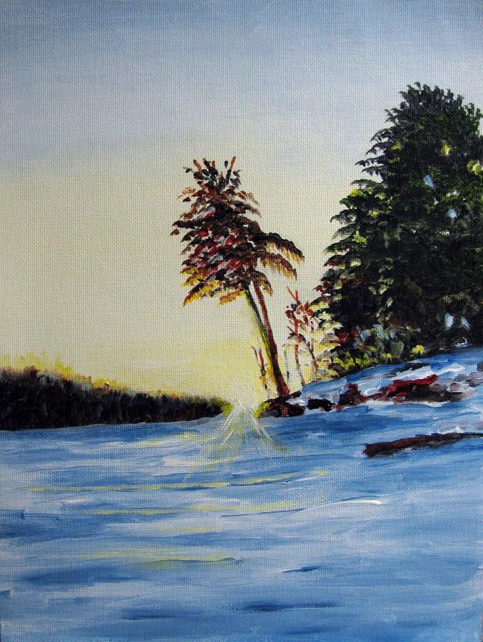 """""""Lone Pine"""" original fine art by Nan Johnson"""