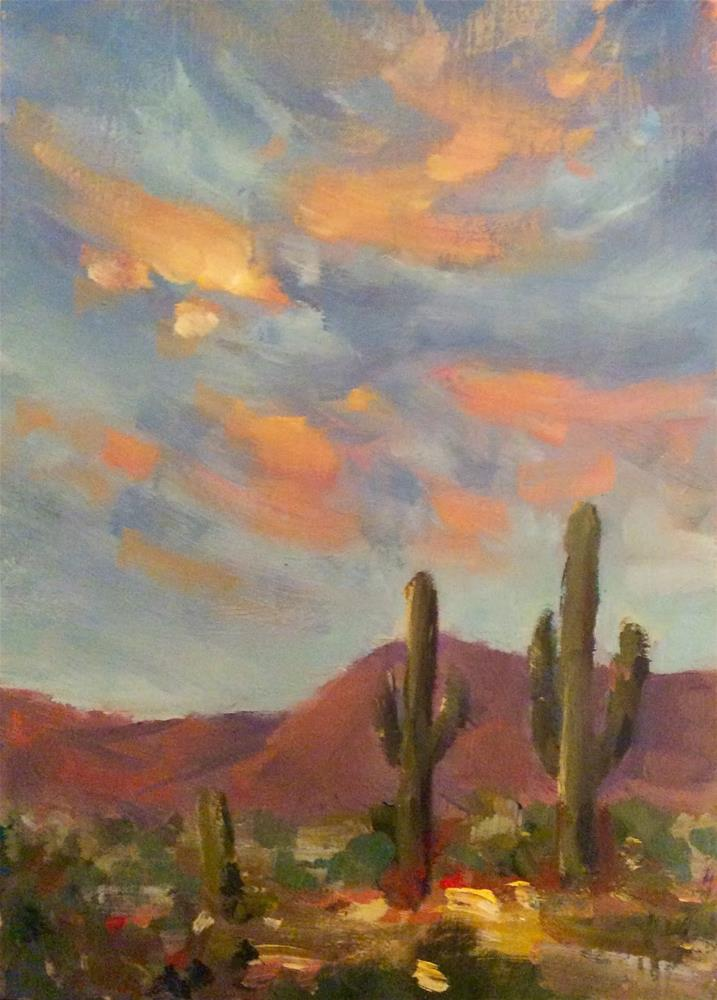 """""""CACTUS SKY"""" original fine art by Doug Carter"""